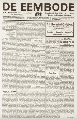De Eembode 1923-10-30