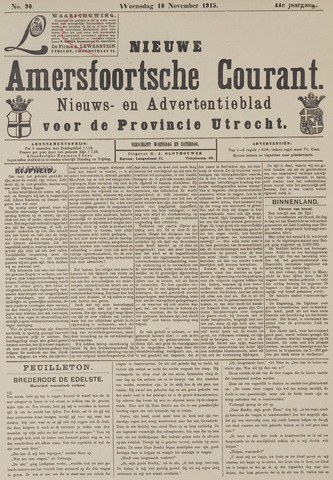Nieuwe Amersfoortsche Courant 1915-11-10