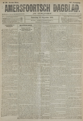 Amersfoortsch Dagblad / De Eemlander 1915-08-14