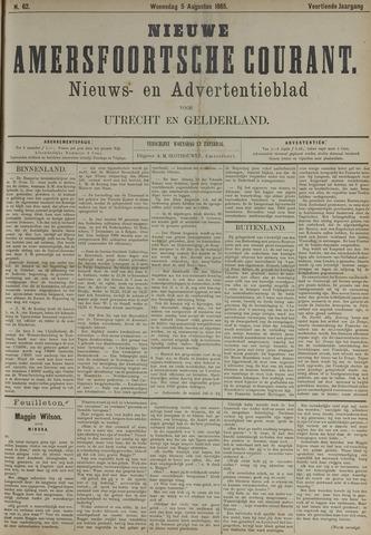 Nieuwe Amersfoortsche Courant 1885-08-05