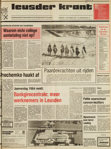 Leusder Krant 1985-09-17