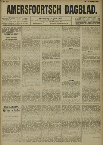 Amersfoortsch Dagblad 1910-06-15
