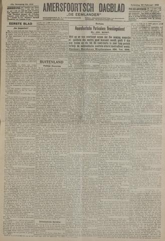 Amersfoortsch Dagblad / De Eemlander 1919-02-22