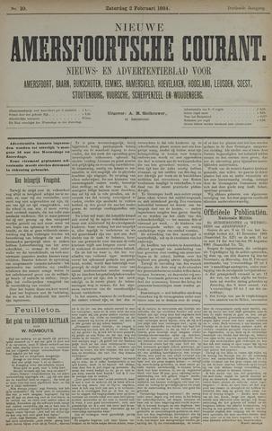 Nieuwe Amersfoortsche Courant 1884-02-02