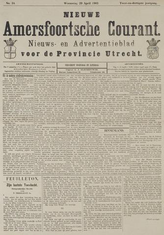 Nieuwe Amersfoortsche Courant 1903-04-29