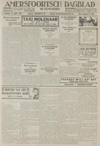 Amersfoortsch Dagblad / De Eemlander 1931-04-27