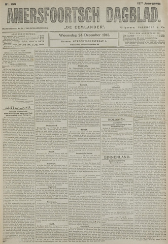 Amersfoortsch Dagblad / De Eemlander 1913-12-24