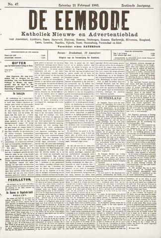 De Eembode 1903-02-21