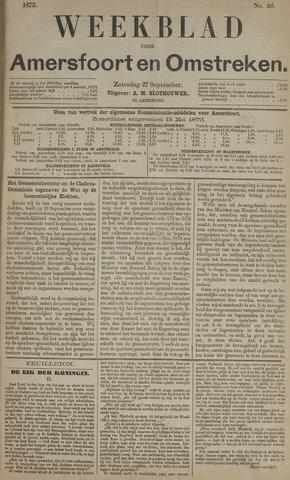 Weekblad voor Amersfoort en Omstreken 1873-09-27