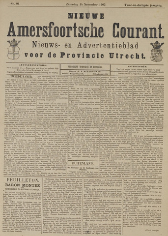 Nieuwe Amersfoortsche Courant 1903-11-14
