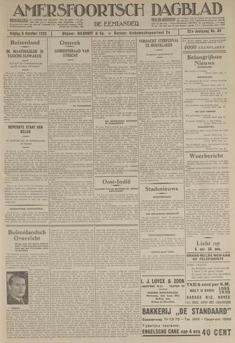 Amersfoortsch Dagblad / De Eemlander 1933-10-06