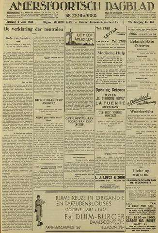 Amersfoortsch Dagblad / De Eemlander 1934-06-02