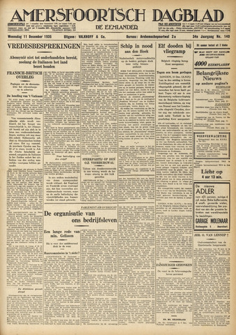 Amersfoortsch Dagblad / De Eemlander 1935-12-11