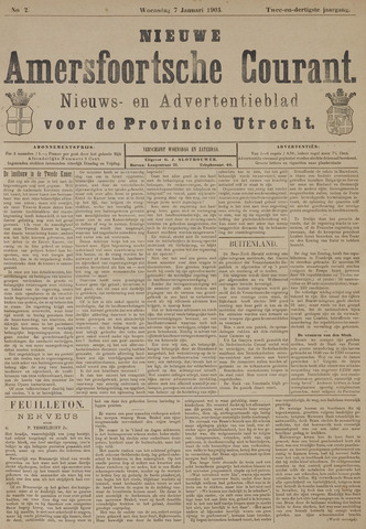 Nieuwe Amersfoortsche Courant 1903-01-07