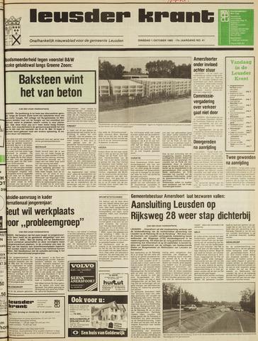 Leusder Krant 1985-10-01