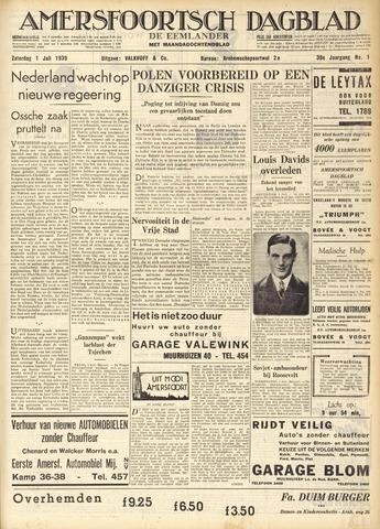 Amersfoortsch Dagblad / De Eemlander 1939-07-01