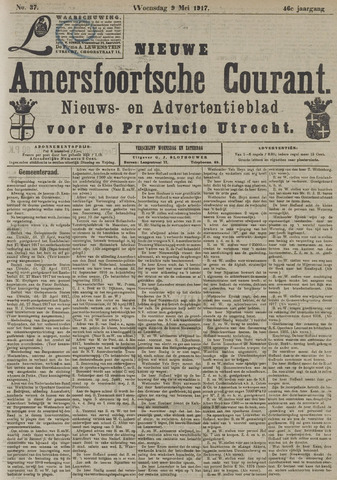 Nieuwe Amersfoortsche Courant 1917-05-09