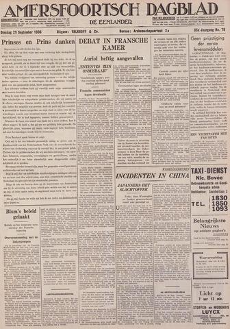Amersfoortsch Dagblad / De Eemlander 1936-09-29
