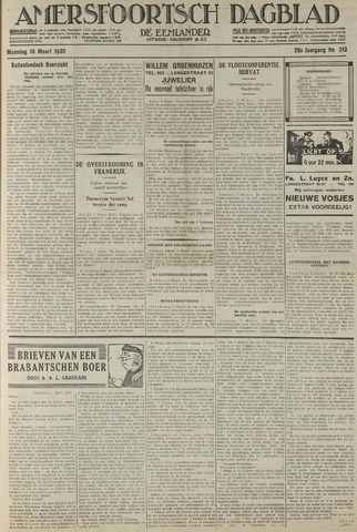 Amersfoortsch Dagblad / De Eemlander 1930-03-10
