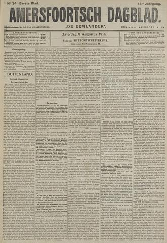Amersfoortsch Dagblad / De Eemlander 1914-08-08