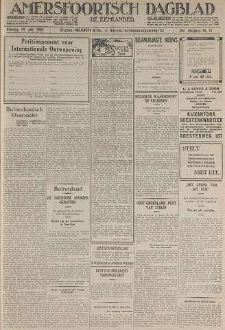 Amersfoortsch Dagblad / De Eemlander 1931-07-14
