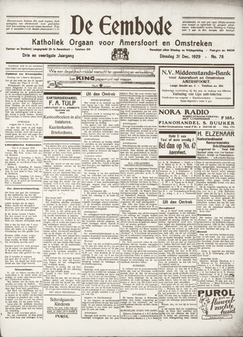 De Eembode 1929-12-31