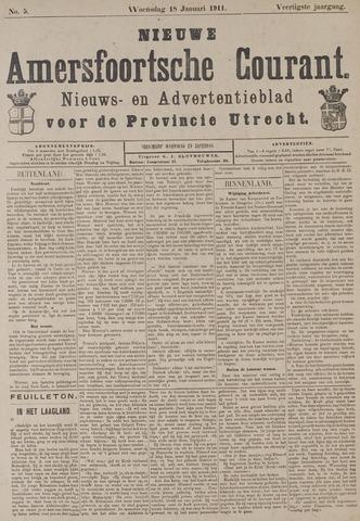 Nieuwe Amersfoortsche Courant 1911-01-18