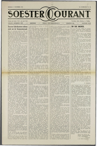 Soester Courant 1954-11-09