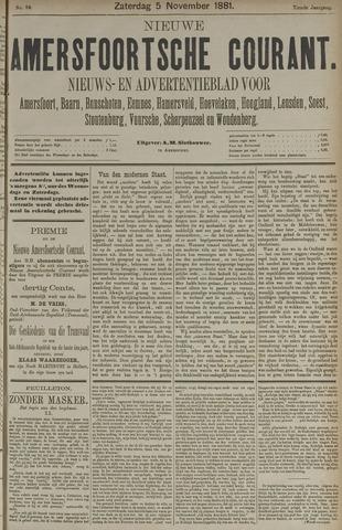 Nieuwe Amersfoortsche Courant 1881-11-05