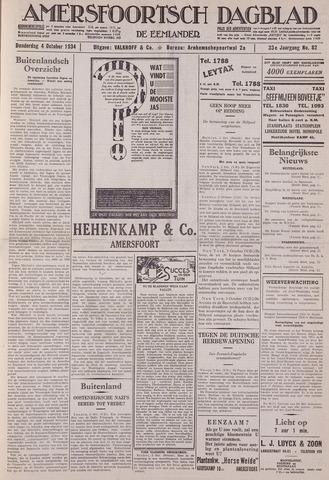 Amersfoortsch Dagblad / De Eemlander 1934-10-04
