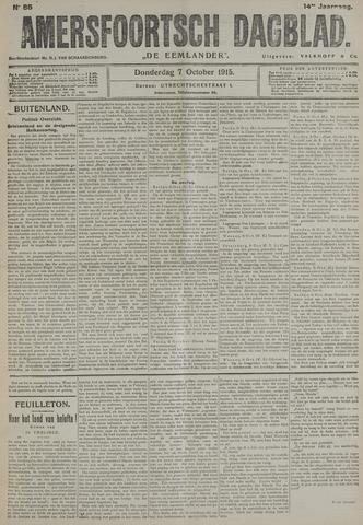 Amersfoortsch Dagblad / De Eemlander 1915-10-07