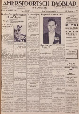 Amersfoortsch Dagblad / De Eemlander 1936-12-14