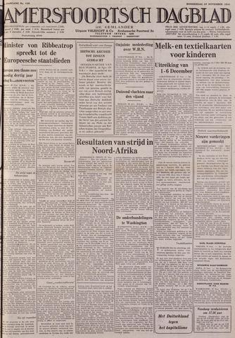 Amersfoortsch Dagblad / De Eemlander 1941-11-27