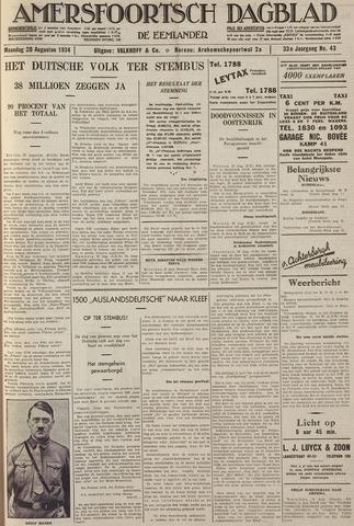 Amersfoortsch Dagblad / De Eemlander 1934-08-20