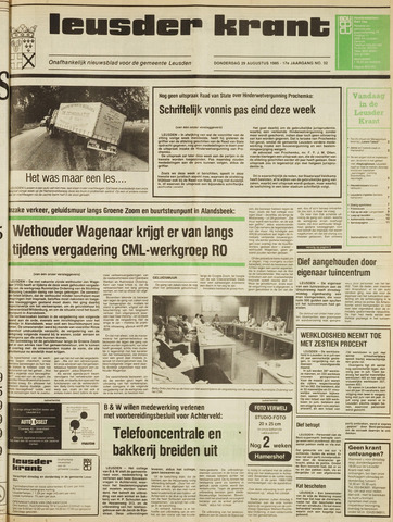 Leusder Krant 1985-08-29