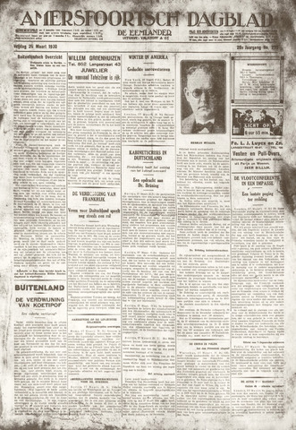 Amersfoortsch Dagblad / De Eemlander 1930-03-28