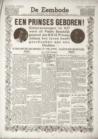 De Eembode 1938-02-01