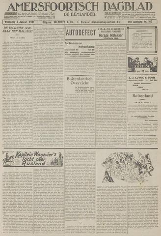 Amersfoortsch Dagblad / De Eemlander 1931-01-07