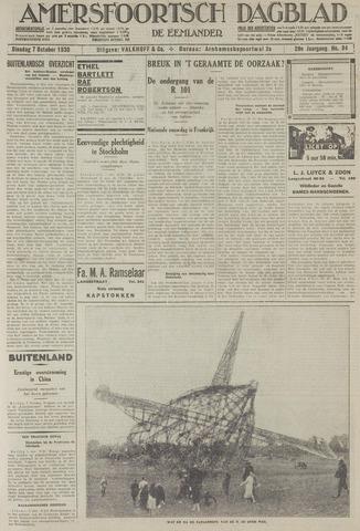 Amersfoortsch Dagblad / De Eemlander 1930-10-07