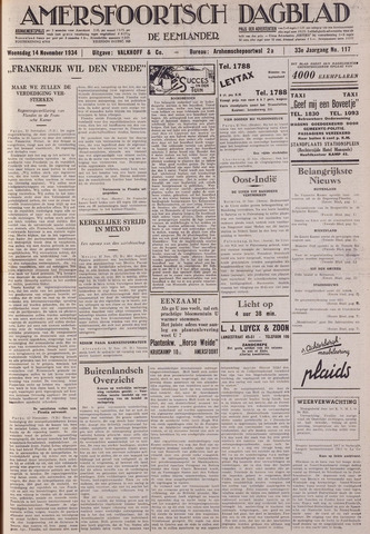 Amersfoortsch Dagblad / De Eemlander 1934-11-14