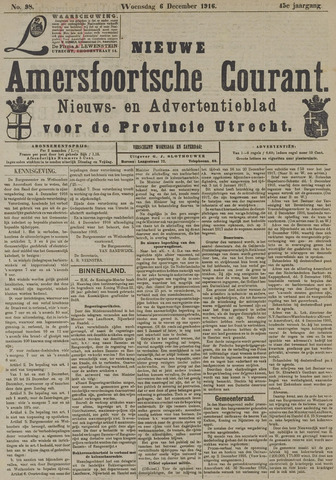 Nieuwe Amersfoortsche Courant 1916-12-06
