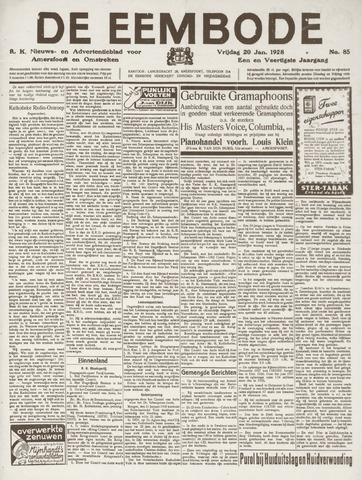 De Eembode 1928-01-20