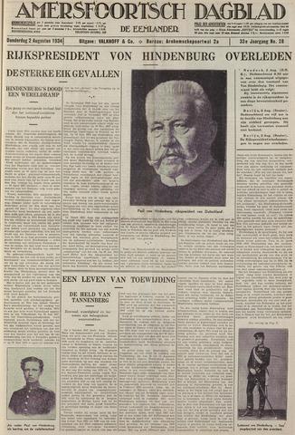 Amersfoortsch Dagblad / De Eemlander 1934-08-02