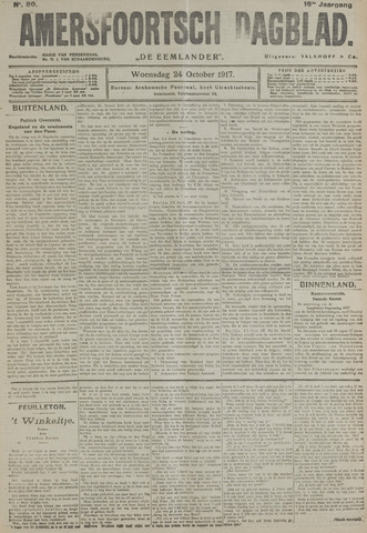 Amersfoortsch Dagblad / De Eemlander 1917-10-24