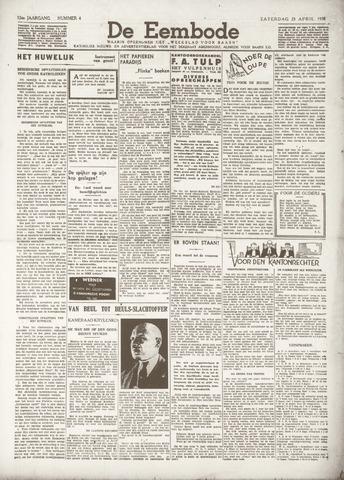 De Eembode 1938-04-23
