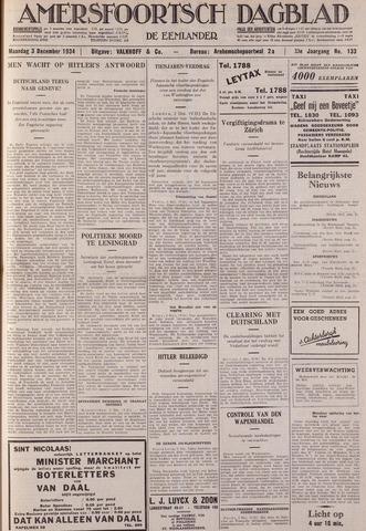 Amersfoortsch Dagblad / De Eemlander 1934-12-03