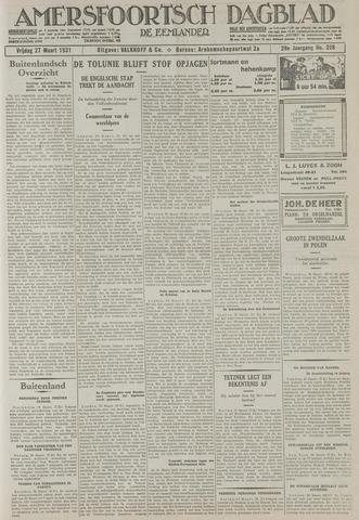 Amersfoortsch Dagblad / De Eemlander 1931-03-27