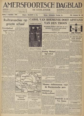 Amersfoortsch Dagblad / De Eemlander 1940-09-06