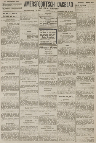 Amersfoortsch Dagblad / De Eemlander 1926-03-01