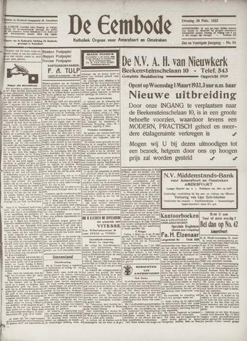 De Eembode 1933-02-28